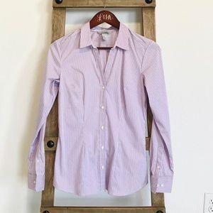 Purple striped button up shirt